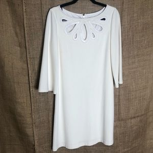 Muse for Boston Proper 8 Dress White Cutout Neck